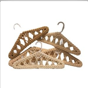 Crochet Hangers Lot of 5 Neutral Colors